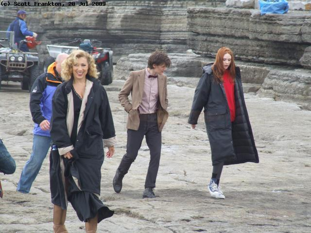 Alex Kingston and pals